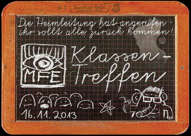 Party Flyer MFE-Klassentreffen 16 Nov '13, 23:00
