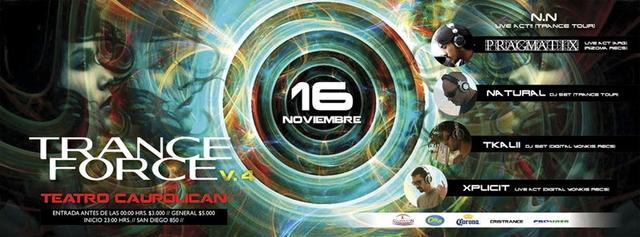 Party Flyer TRANCEFORCE V.4 16 Nov '13, 23:00