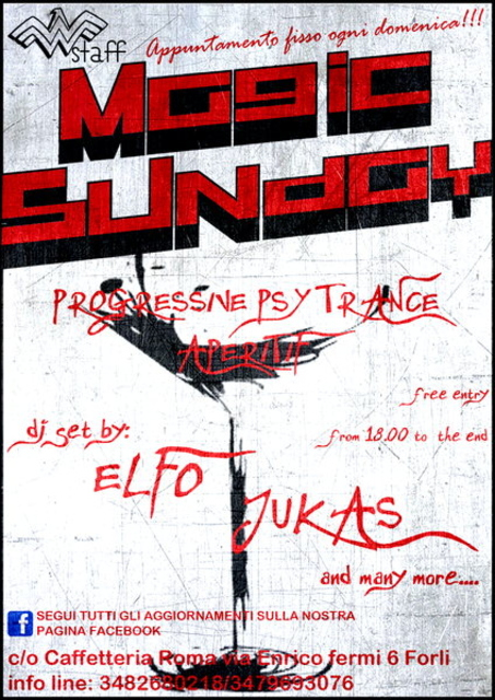 Party Flyer >>Magic Sunday<< Progressive Psy Trance Aperitif 17 Nov '13, 22:00
