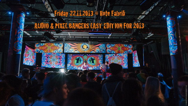 Party Flyer Audio & Pixel Bangers @ Rote Fabrik > NOK, Haldolium, Dualism 22 Nov '13, 23:00