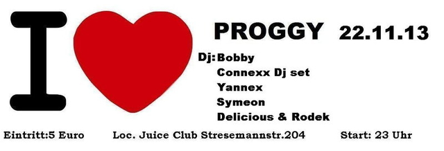 Party Flyer I LOVE PROGGY 22 Nov '13, 23:00