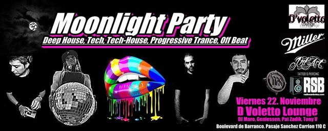 Party Flyer moonlight party (special edition) 22 Nov '13, 22:00