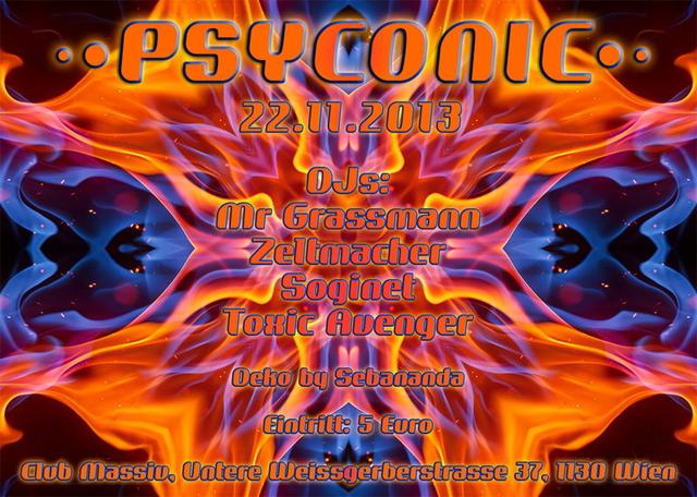 Party Flyer Psyconic 22 Nov '13, 23:00