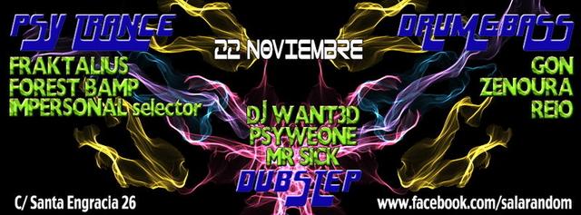 Party Flyer PSY-NIGHT @ RANDOM 22 Nov '13, 23:30