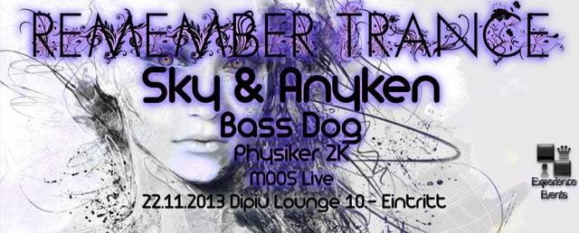 Party Flyer Remember Trance mit Sky & Anyken 22 Nov '13, 22:00