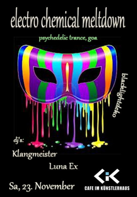 Party Flyer electro chemical meltdown 23 Nov '13, 22:00