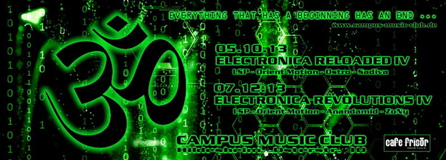 Party Flyer - ELECTRONICA REVOLUTIONS IV 7 Dec '13, 23:00