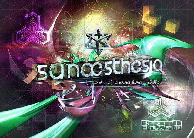 Party Flyer Synæsthesia - Part 2 w/ Dust live / AudioForm live / Goa Jonas / ChillinBerlin 7 Dec '13, 23:00