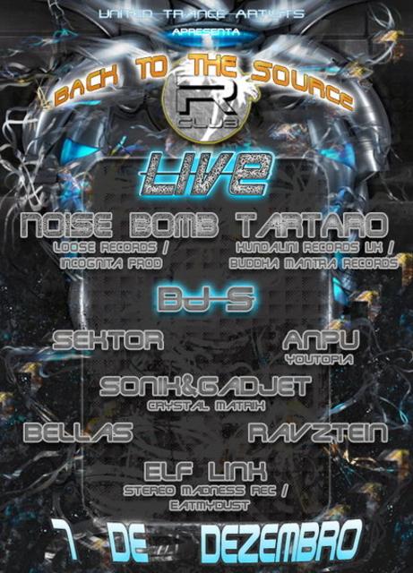 Party Flyer United Trance Artists Apresenta 7 de DezembrBack to The Source - Psytrance Party 7 Dec '13, 23:00