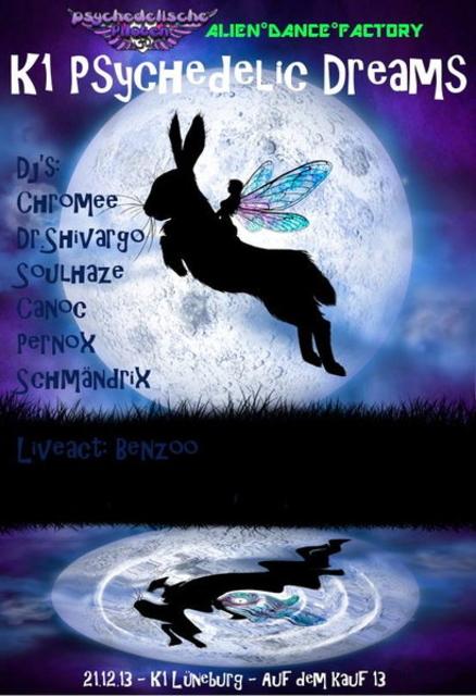 Party Flyer K1 Psychedelic Dreams 21 Dec '13, 22:00