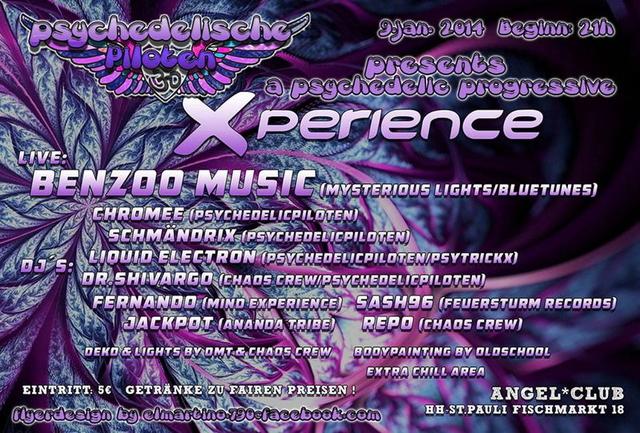 Party Flyer PsychedelicPiloten Pres. Xperience 9 Jan '14, 21:00