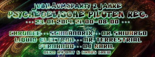 Party Flyer PsychedelicPiloten Pres. 2 Jahre PsychedelicPiloten 23 Jan '14, 21:00