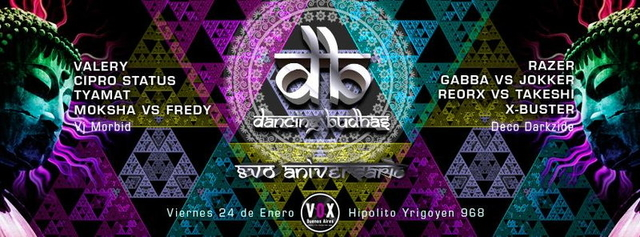 Party Flyer Dancing Budhas Aniversary 24 Jan '14, 23:00