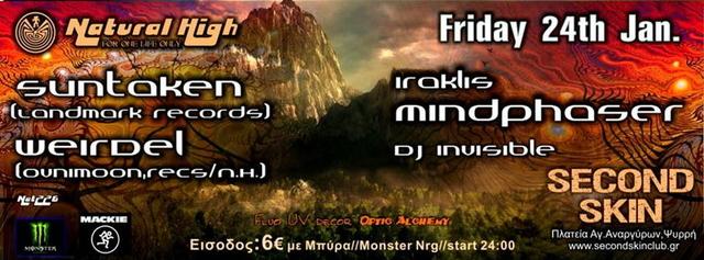 Party Flyer NATURAL HIGH(nat226) 24 Jan '14, 23:30