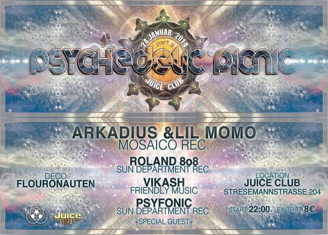 Party Flyer Psychedelic Picnic Part 3 / B-Day Celebration by Roland8o8 24 Jan '14, 23:00