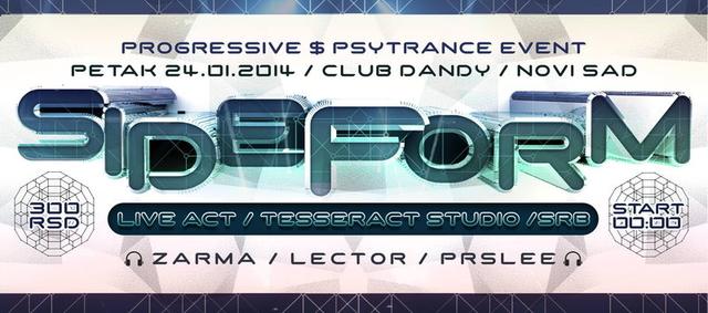 Party Flyer SIDEFORM LIVE ACT @ Club Dandy/Novi Sad 24 Jan '14, 23:30