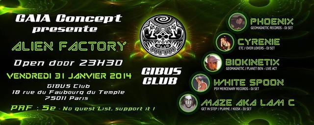 Party Flyer Alien Factory 31 Jan '14, 23:30