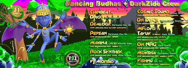 Party Flyer Dancing Budhas + Darkzide Crew 31 Jan '14, 23:00