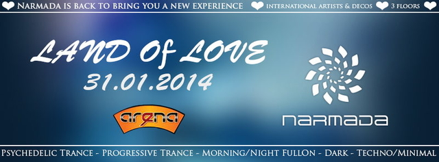 Party Flyer LAND OF LOVE 2014 - MENDRISIO 31 Jan '14, 22:30
