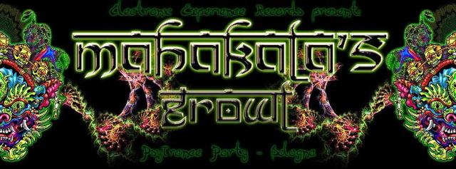 Party Flyer MAHAKALA'S GROWL - PSYTRANCE EVENT B-DAY DJANE SHIRA 31 Jan '14, 22:00