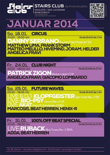 Party Flyer 100% OffBeat Special 31 Jan '14, 23:00