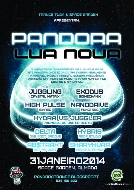 Party Flyer PANDORA Lua Nova 31 Jan '14, 23:00