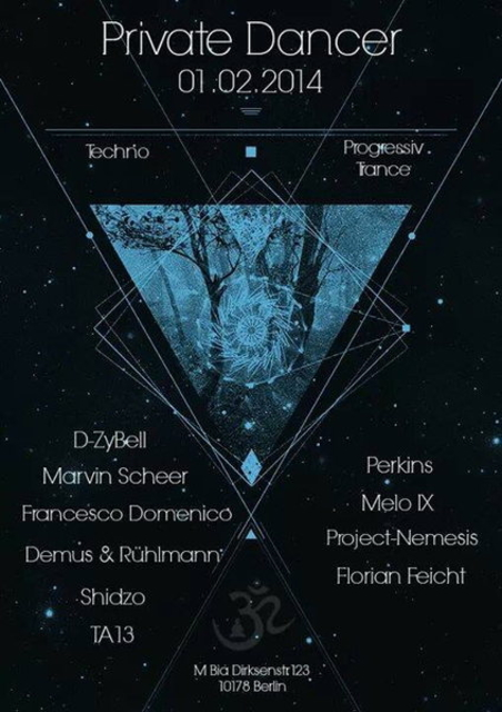 Party Flyer Private Dancer 1 Feb '14, 23:30