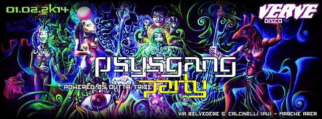 Party Flyer PsySgang Party (2 STAGE PSYTRANCE + TEKNO) 1 Feb '14, 22:30