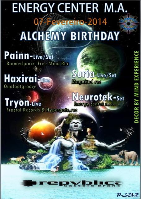 Party Flyer ૐ ALCHEMY BIRTHDAY ૐ 7 Feb '14, 23:30