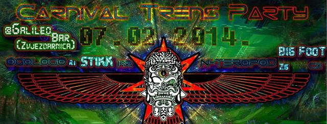 Party Flyer ***Carnival-- --Trance-- --Party*** 7 Feb '14, 22:00