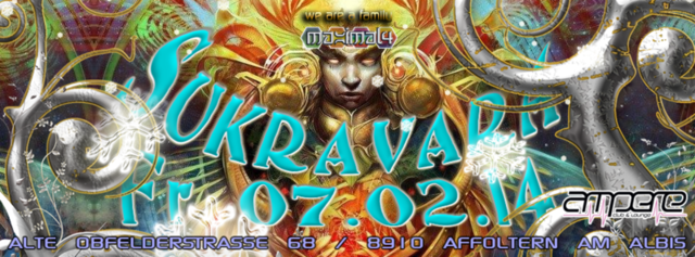 Party Flyer SUKRAVARA ((MAXIMAL4)) - Club AMPERE 7 Feb '14, 22:00