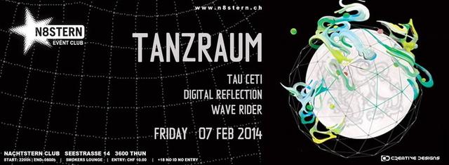 Party Flyer TANZRAUM @ N8STERN 7 Feb '14, 22:00