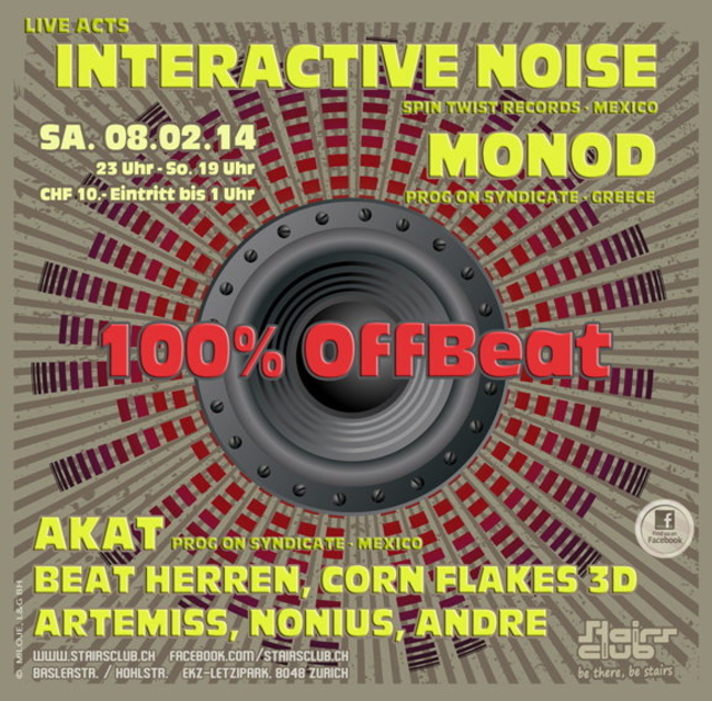 Party Flyer 100% OffBeat 8 Feb '14, 23:00