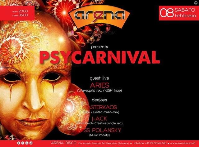 Party Flyer °PSYCARNIVAL° 8 Feb '14, 23:00
