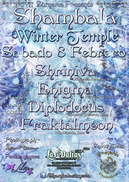 Party Flyer SHAMBALA WINTER TEMPLE 8 Feb '14, 23:30