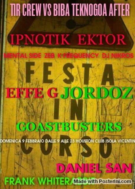 Party Flyer TIR CREW VS BIBA REC TEKNO/GOA AFTER 9 Feb '14, 09:00