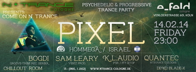 Party Flyer Come on N' Trance 14 Feb '14, 23:00