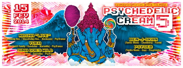 Party Flyer PSYCHEDELIC CRIME #5 Special St Valentin 15 Feb '14, 22:30