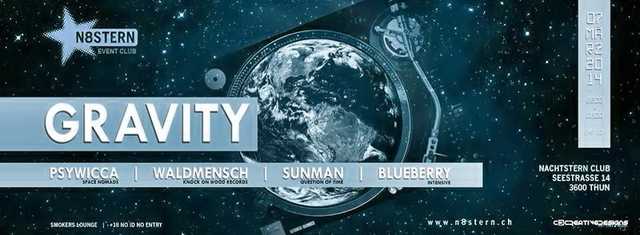 Party Flyer Gravity 7 Mar '14, 22:00