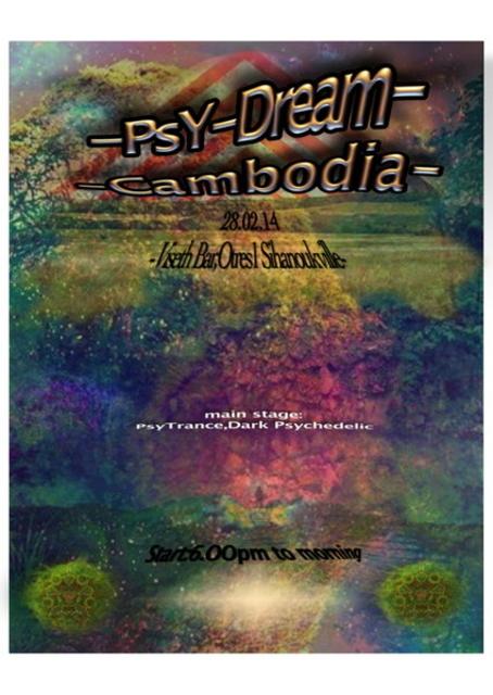 Party Flyer psy dream cambodia 7 Mar '14, 22:00