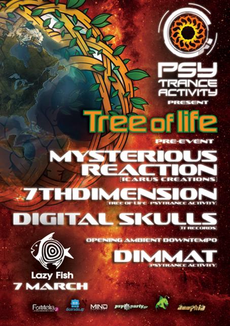 Party Flyer Psytrance Activity present Tree of Life pre-event 7 Mar '14, 23:00