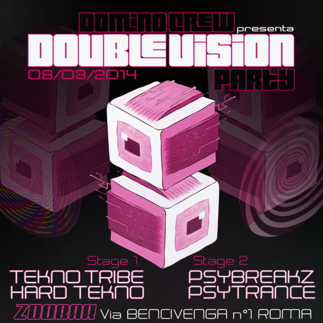 Party Flyer ★ DOUBLE VISION PARTY ★ 8 Mar '14, 23:00