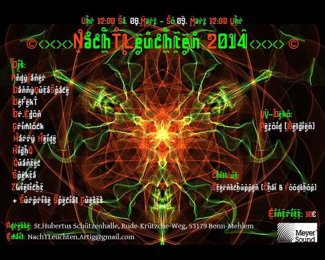 Party Flyer NachTLeuchten 2B-Day and Night Dance 2014 8 Mar '14, 12:00