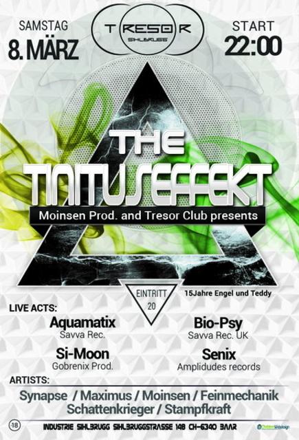 Party Flyer Tinituseffekt 8 Mar '14, 23:00