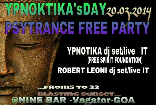Party Flyer Ypnotika B-Day GOA PSYTRANCE FREEPARTY 20 Mar '14, 17:00