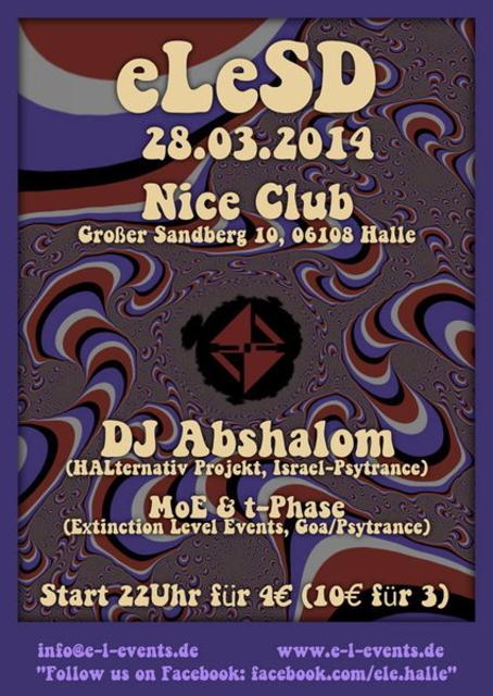 Party Flyer eLeSD 28 Mar '14, 22:00