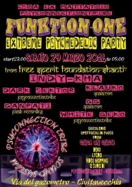 Party Flyer #FUNKTION-ONE EXTREME PSYCADELIK PARTY 29 Mar '14, 23:00