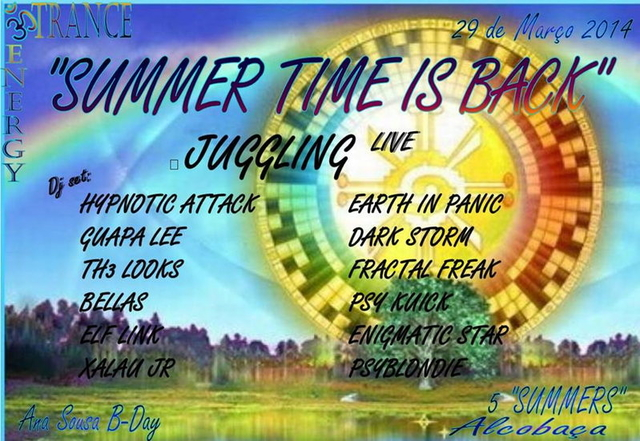 Party Flyer ૐ ૐ SUMMER TIME IS BACK! ૐ ૐ 29 Mar '14, 23:30
