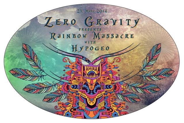 Party Flyer Zero Gravity Rainbow Massacre with HYPOGEO 29 Mar '14, 23:00