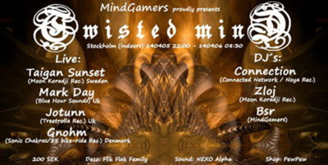 Party Flyer Twisted Mind By MindGamers 5 Apr '14, 22:00